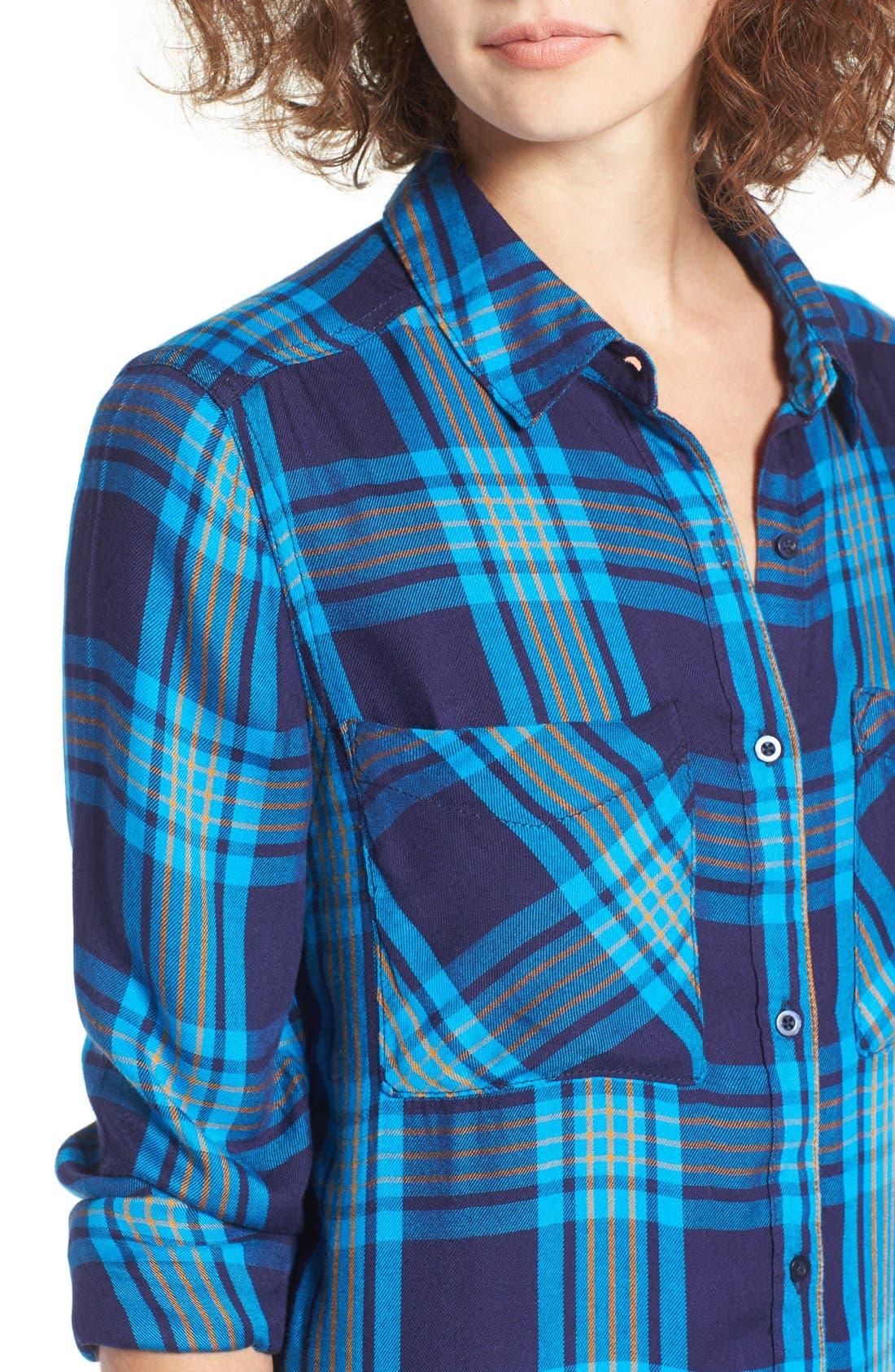 ,                             Plaid Tunic Shirt,                             Alternate thumbnail 26, color,                             410