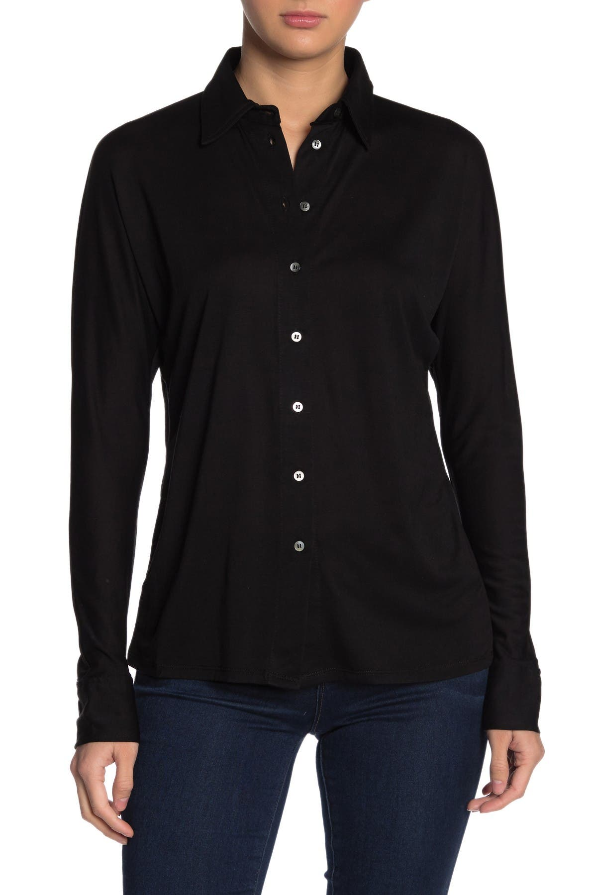 Image of Dress Forum Soft Button Front Shirt