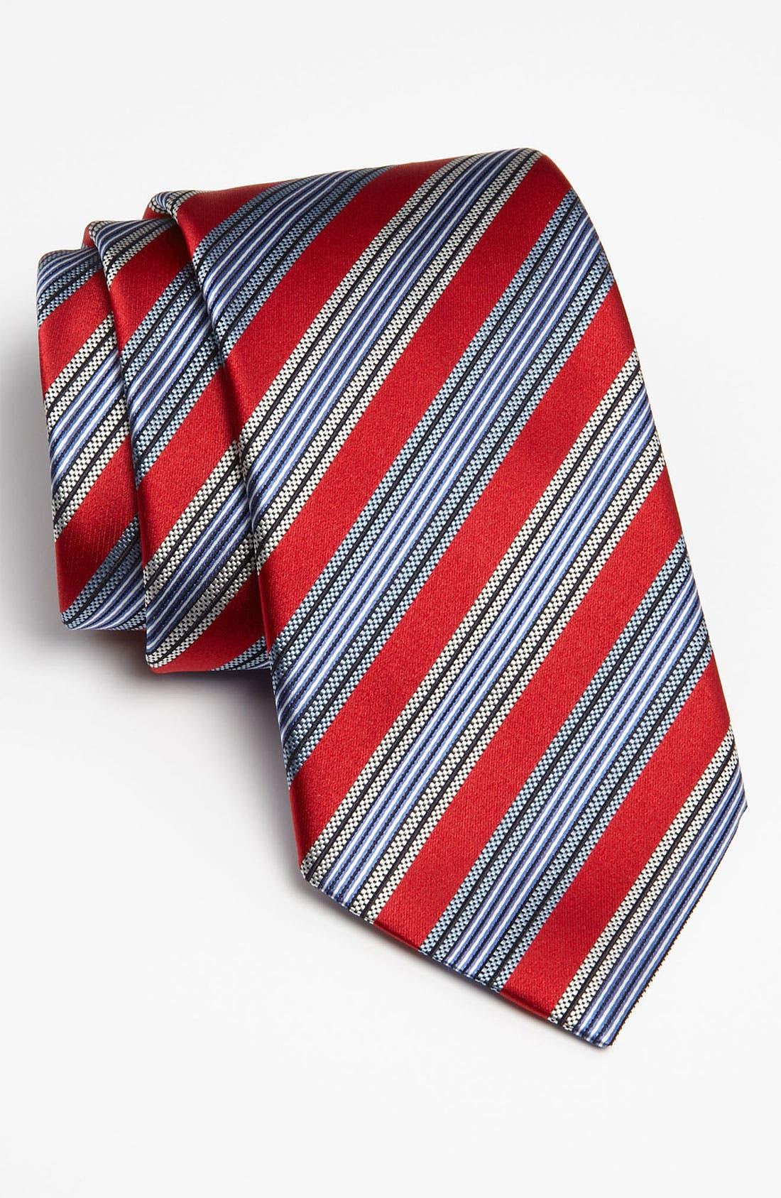 ,                             Woven Silk Tie,                             Main thumbnail 1, color,                             614