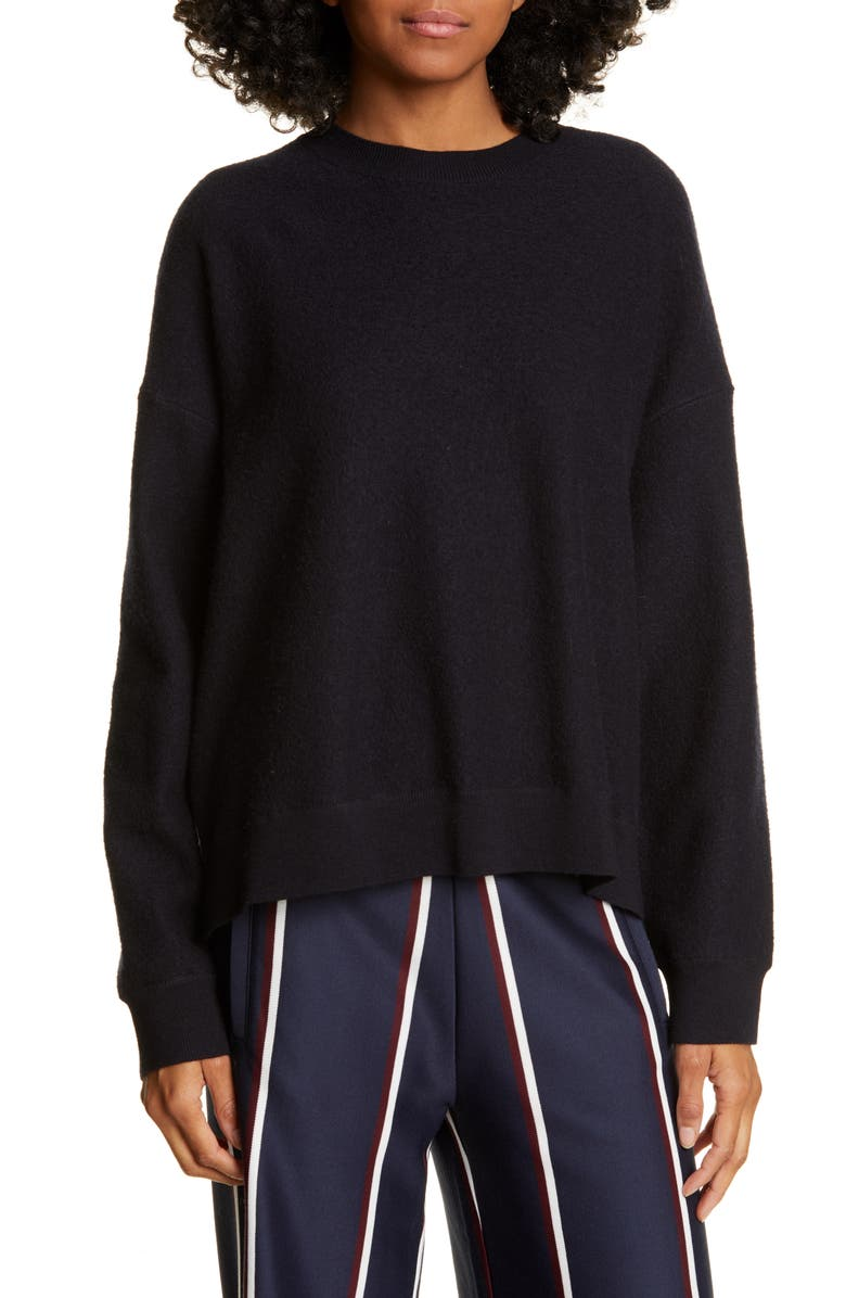 TORY SPORT Drop Shoulder Merino Wool Sweater, Main, color, TORY NAVY
