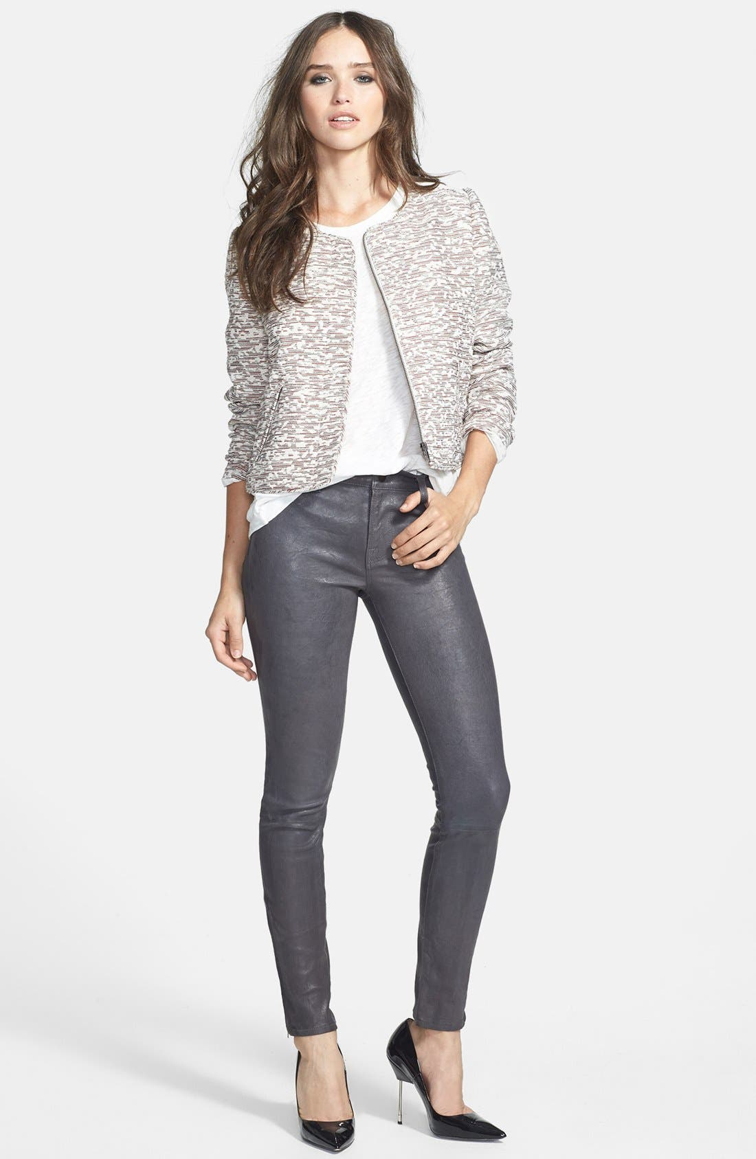 ,                             '8001' Lambskin Leather Pants,                             Alternate thumbnail 52, color,                             027