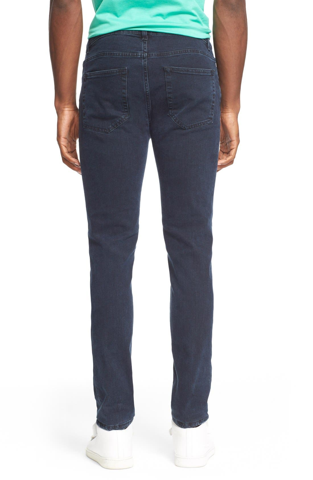 ,                             Slim Straight Leg Jeans,                             Alternate thumbnail 5, color,                             400
