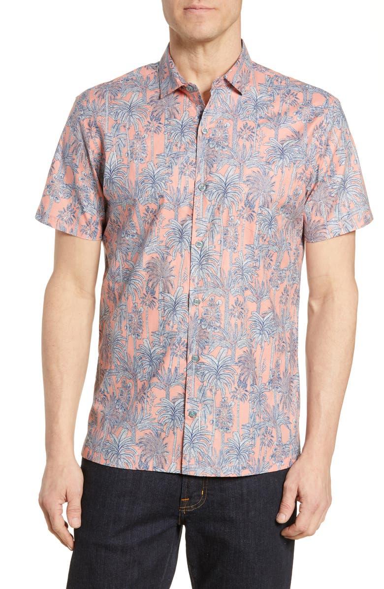 TORI RICHARD Palm Bay Regular Fit Shirt, Main, color, CORAL