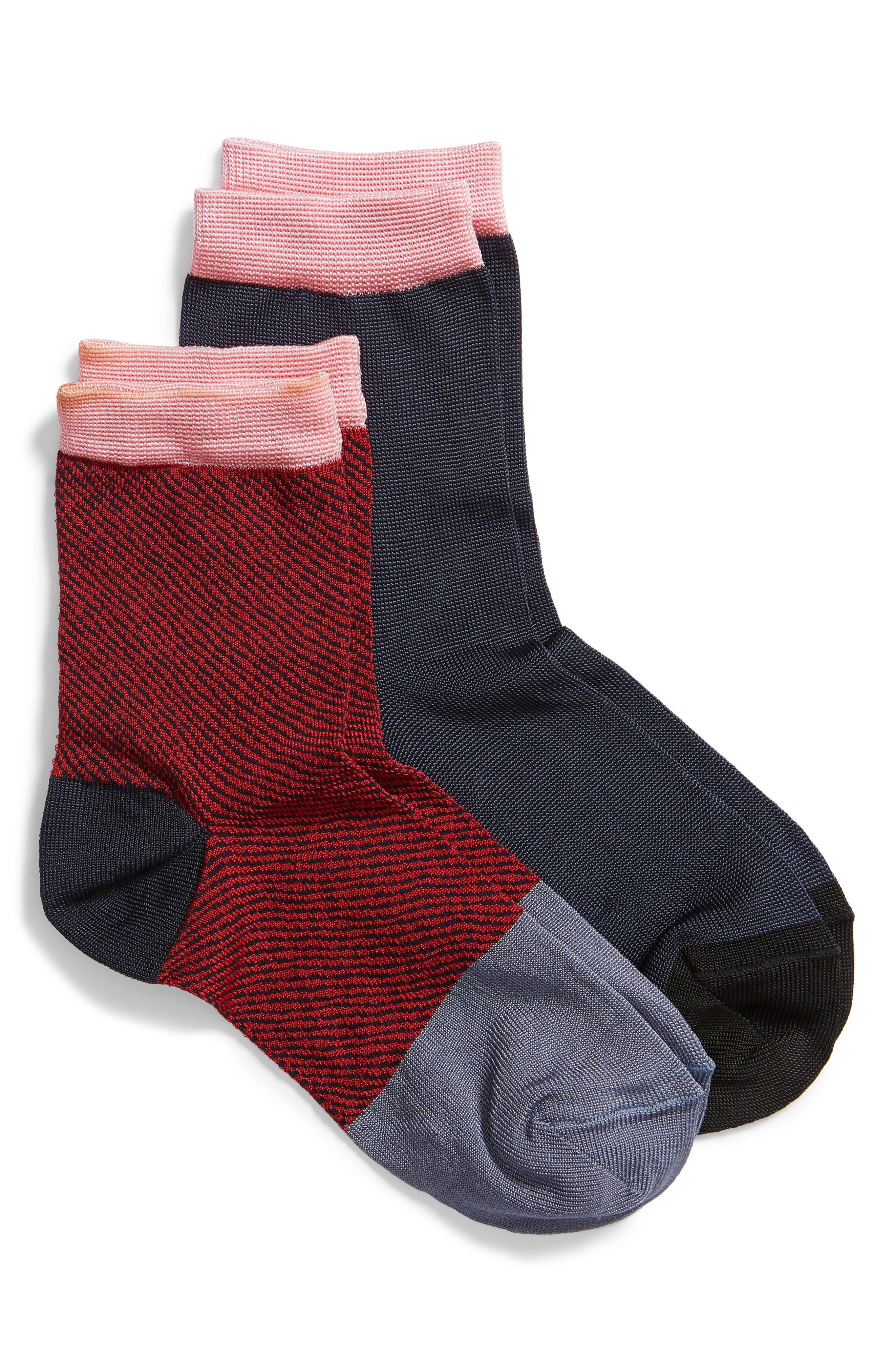 Kajsa 2-Pack Crew Socks, Main, color, 400