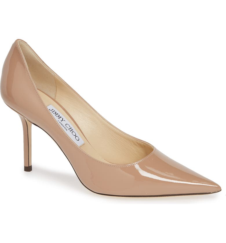 JIMMY CHOO Love Patent Leather Pump, Main, color, BALLET PINK PATENT