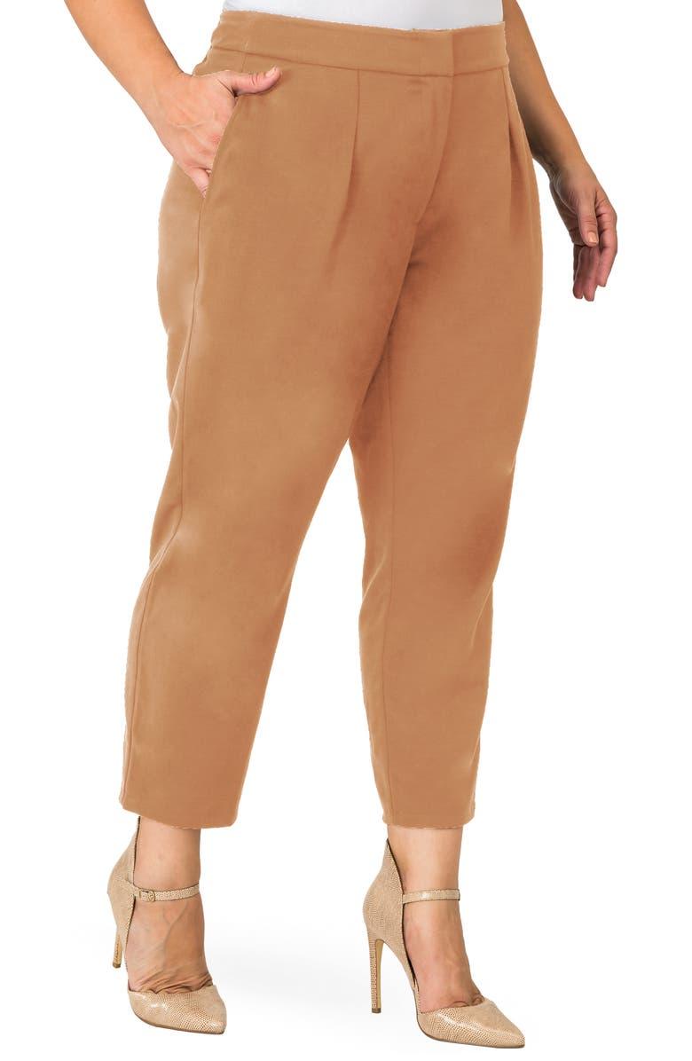 STANDARDS & PRACTICES Sabrina Narrow Leg Trousers, Main, color, TAN