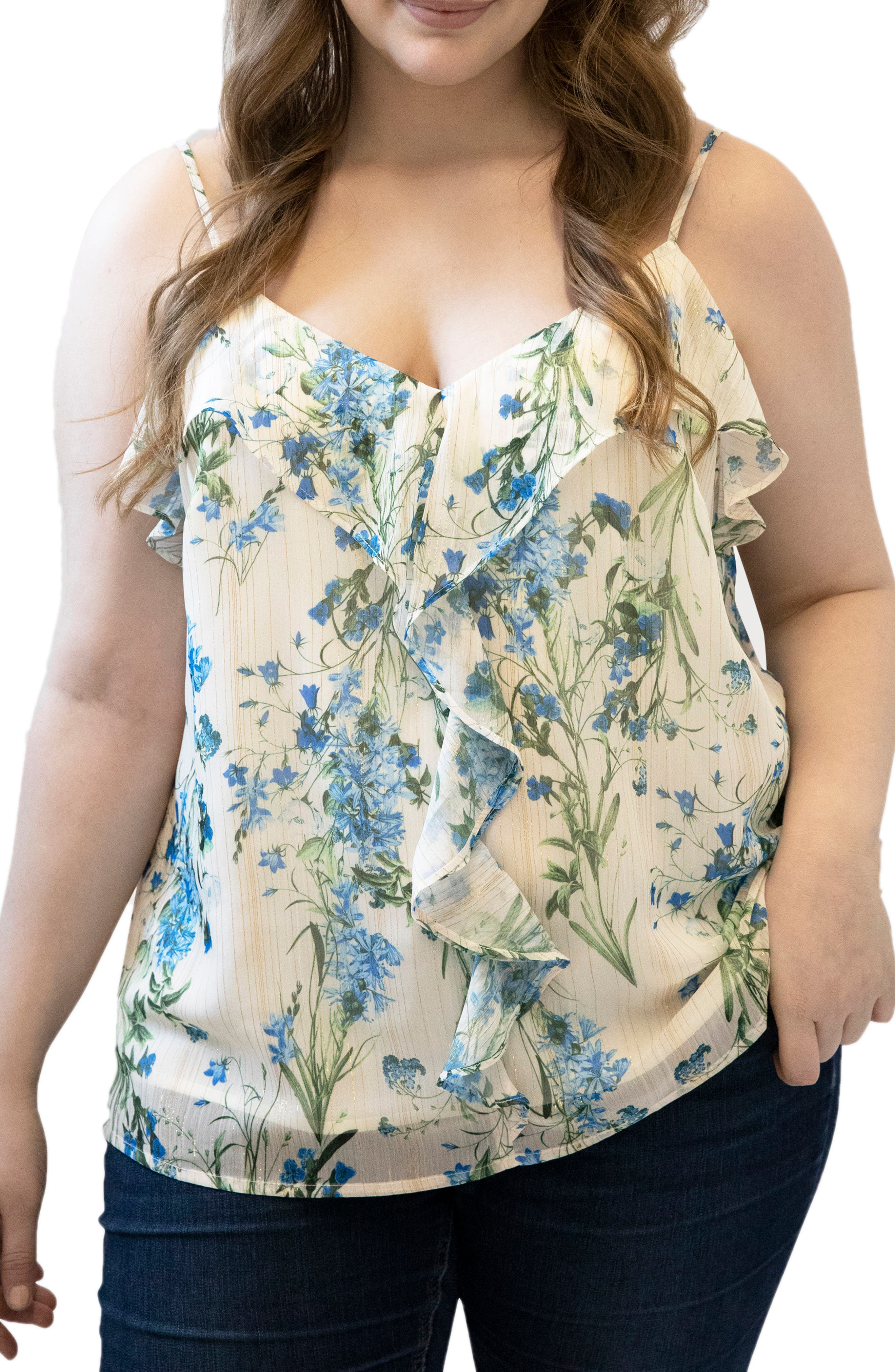 Floral Print Ruffle Camisole
