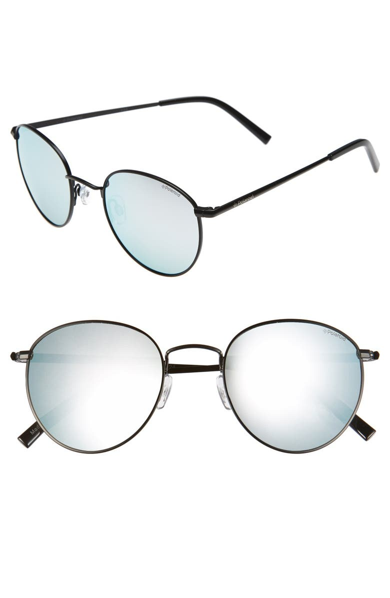 POLAROID EYEWEAR 51mm Retro Sunglasses, Main, color, 001