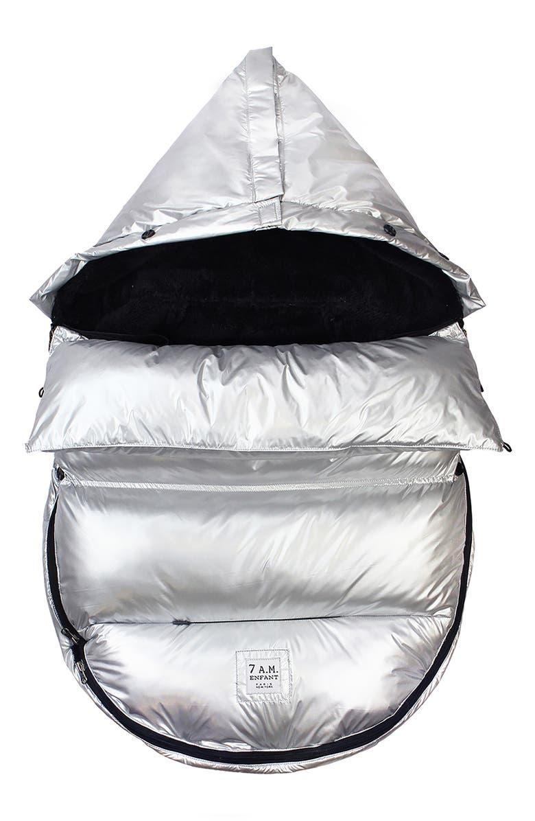 7 A.M. ENFANT GlacierPOD Water Resistant Car Seat/Stroller Bunting, Main, color, GLACIER