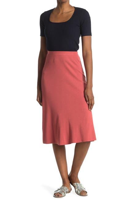 Image of Stateside Mini Rib Midi Flare Skirt