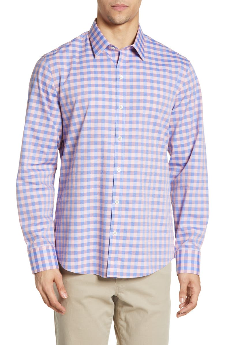 ZACHARY PRELL Paride Regular Fit Shirt, Main, color, CORAL