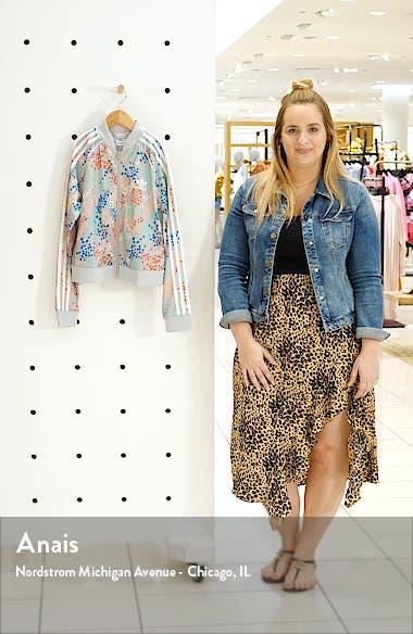SST Floral Print Crop Track Jacket, sales video thumbnail