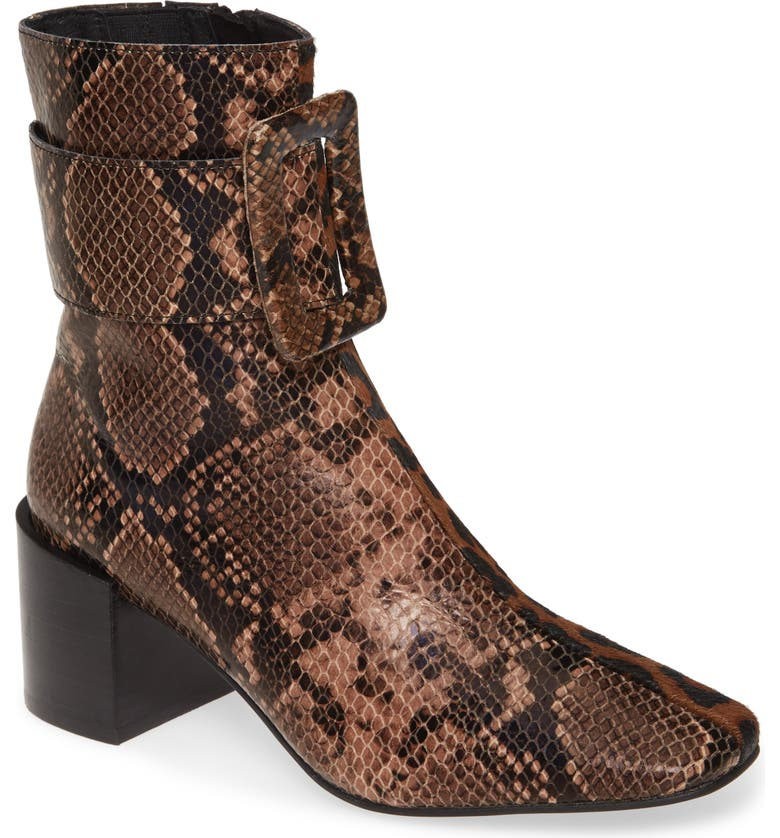 JEFFREY CAMPBELL Godard Bootie, Main, color, BROWN SNAKE/ CHEETAH CALF HAIR