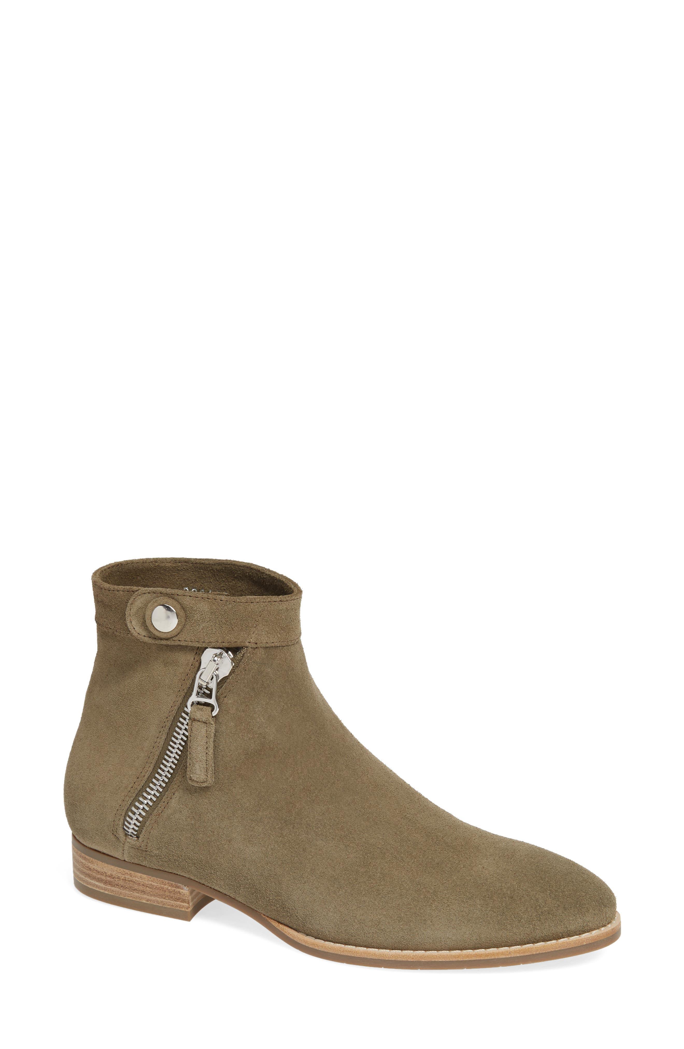 Aquatalia Rose Suede Boot, Green