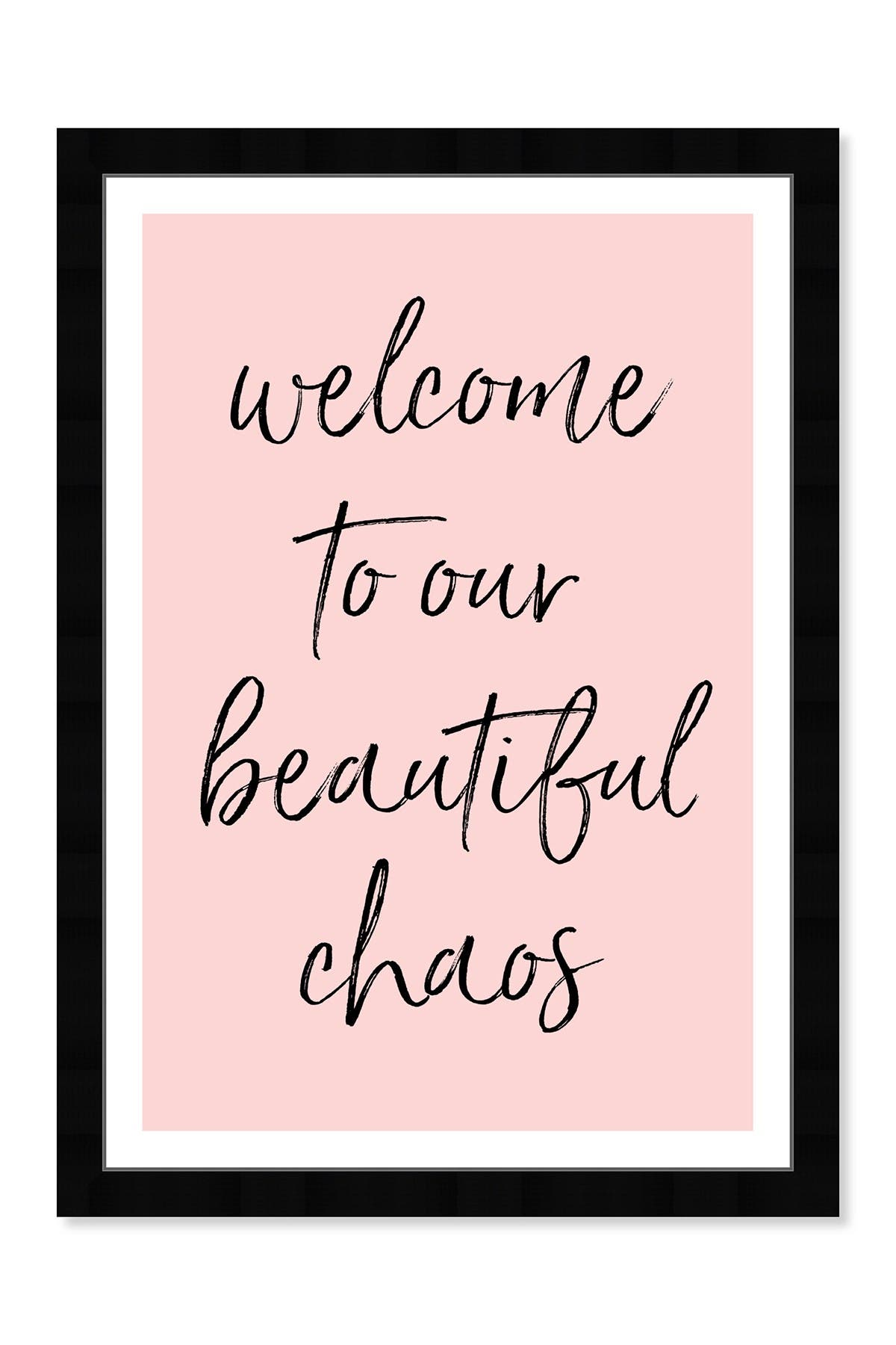 Image of Wynwood Studio Beautiful Chaos Pink Framed Wall Art