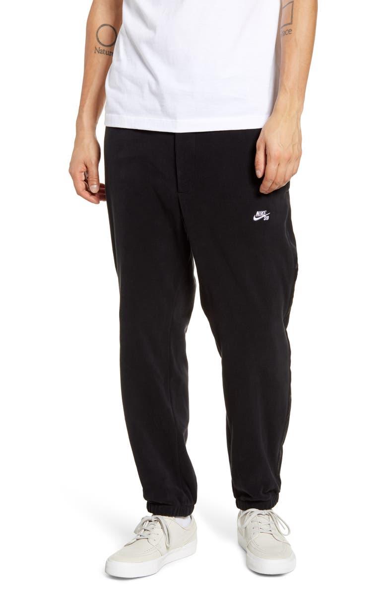 NIKE SB Jogger Pants, Main, color, BLACK/ WHITE