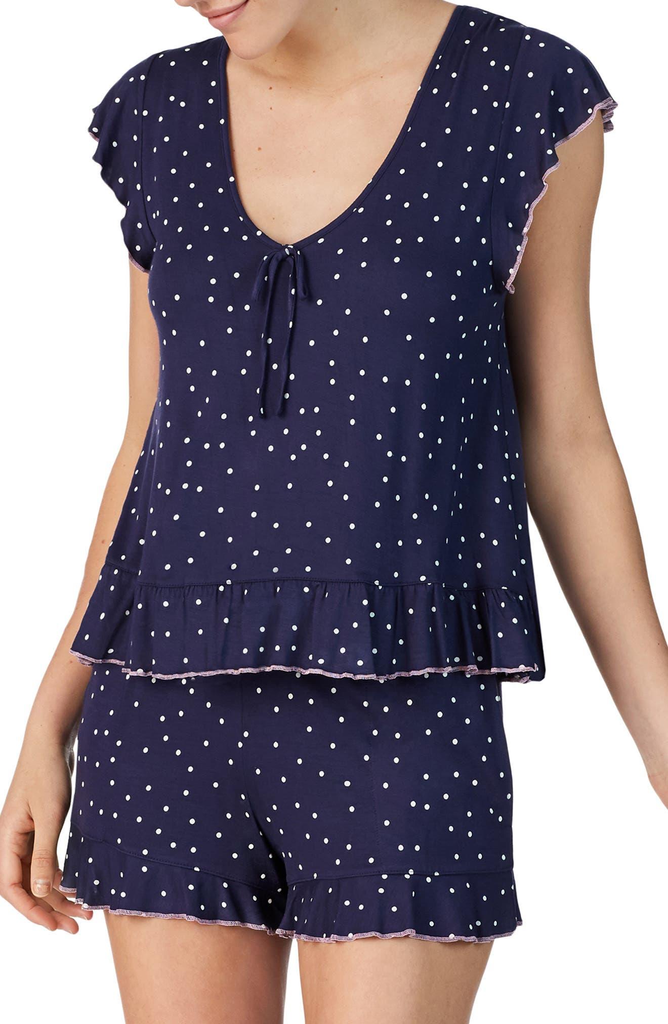 Room Service Ruffle Short Pajamas, Blue (Nordstrom Exclusive)