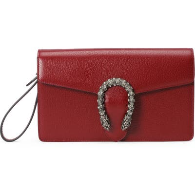 Gucci Leather Wristlet - Red