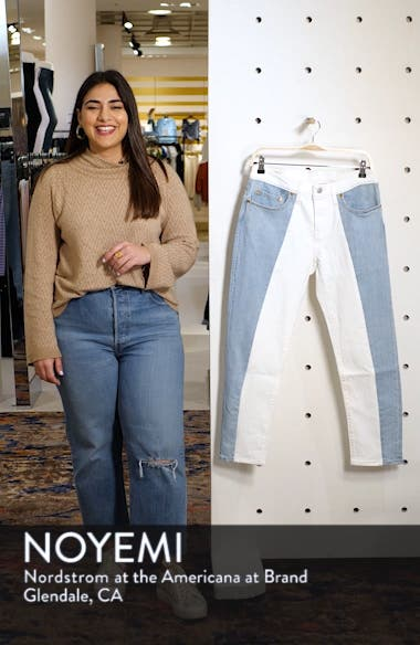 501<sup>®</sup> Colorblock High Waist Crop Jeans, sales video thumbnail