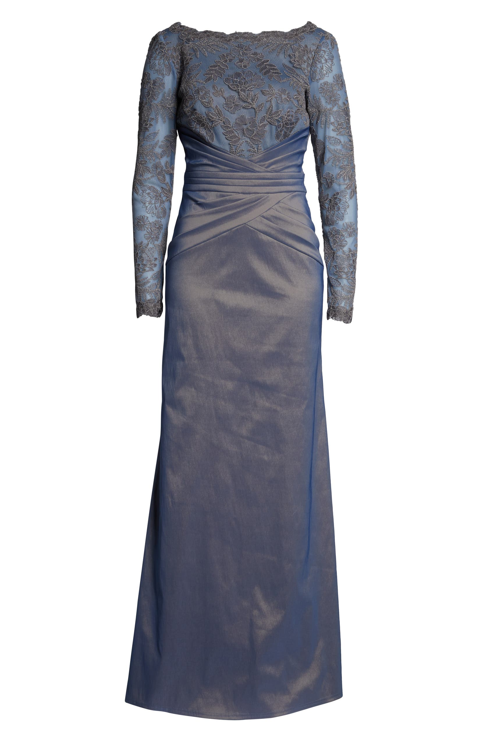 0d493196e217e Tadashi Shoji Embroidered Mesh & Taffeta Gown | Nordstrom