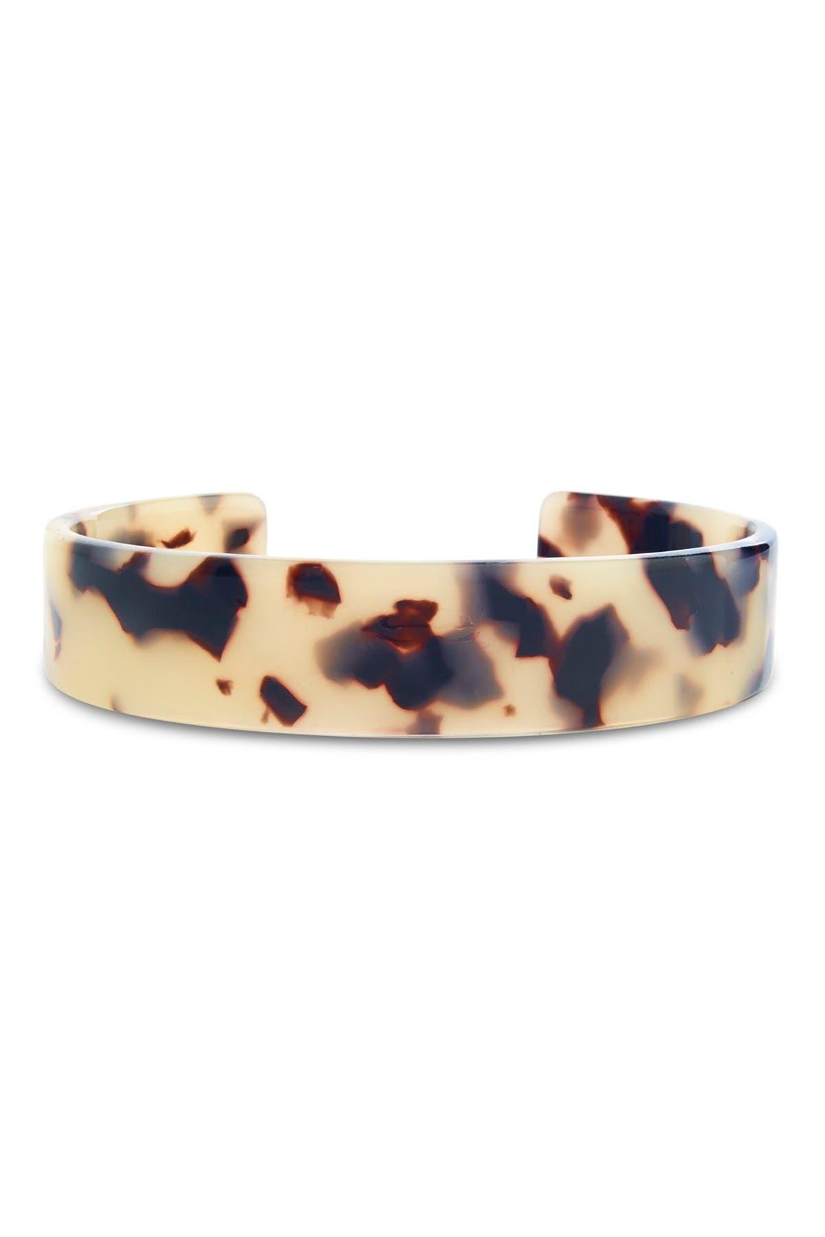 Image of Sterling Forever Milky Tortoise Resin Cuff Bracelet