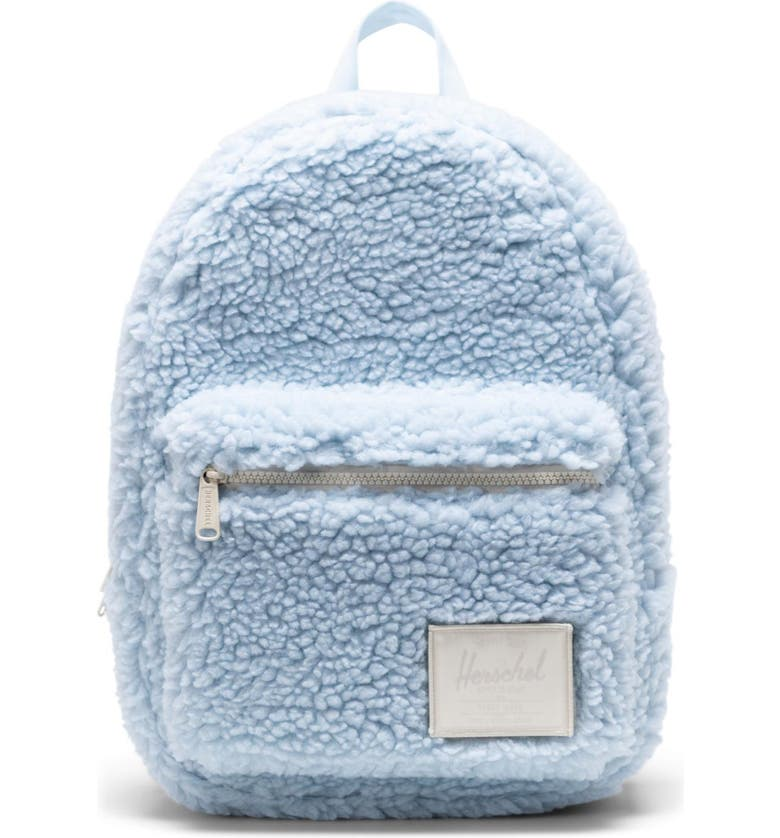 HERSCHEL SUPPLY CO. Small Grove Fleece Backpack, Main, color, BABY BLUE