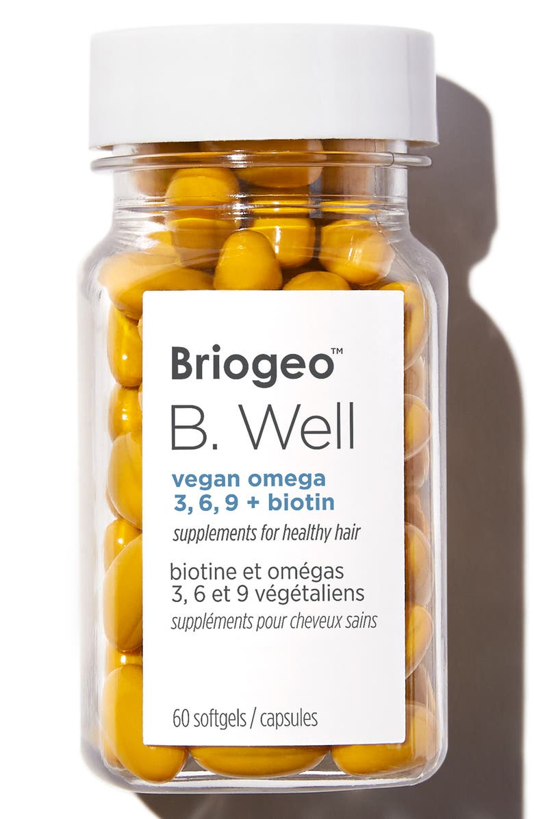 BRIOGEO B. Well Vegan Dietary Supplement for Healthy Hair, Main, color, NO COLOR