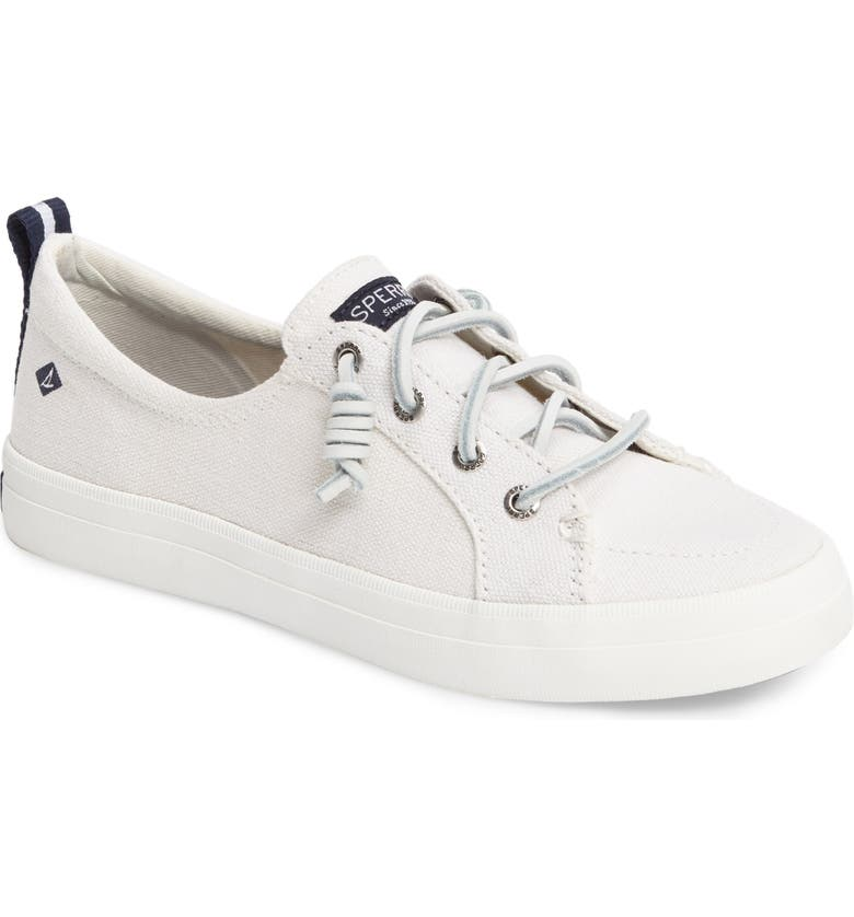 SPERRY Crest Vibe Sneaker, Main, color, WHITE CANVAS