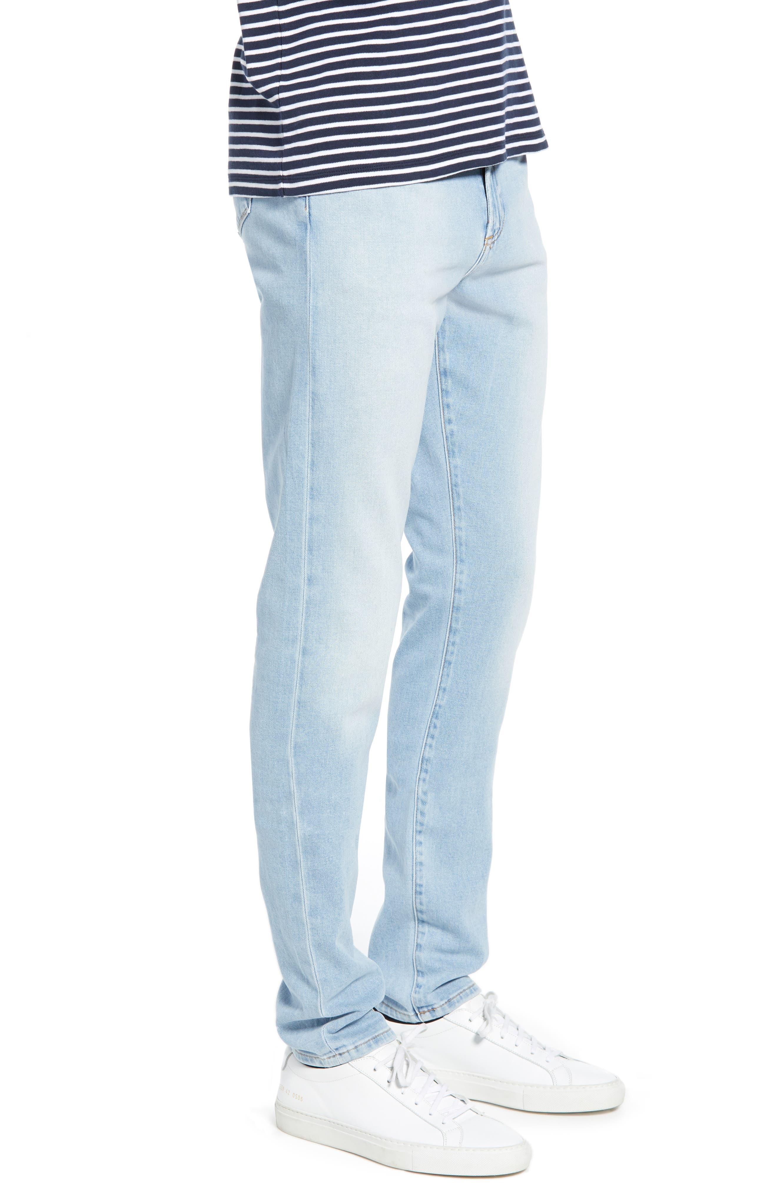 ,                             Greyson Skinny Fit Jeans,                             Alternate thumbnail 4, color,                             MYKONOS