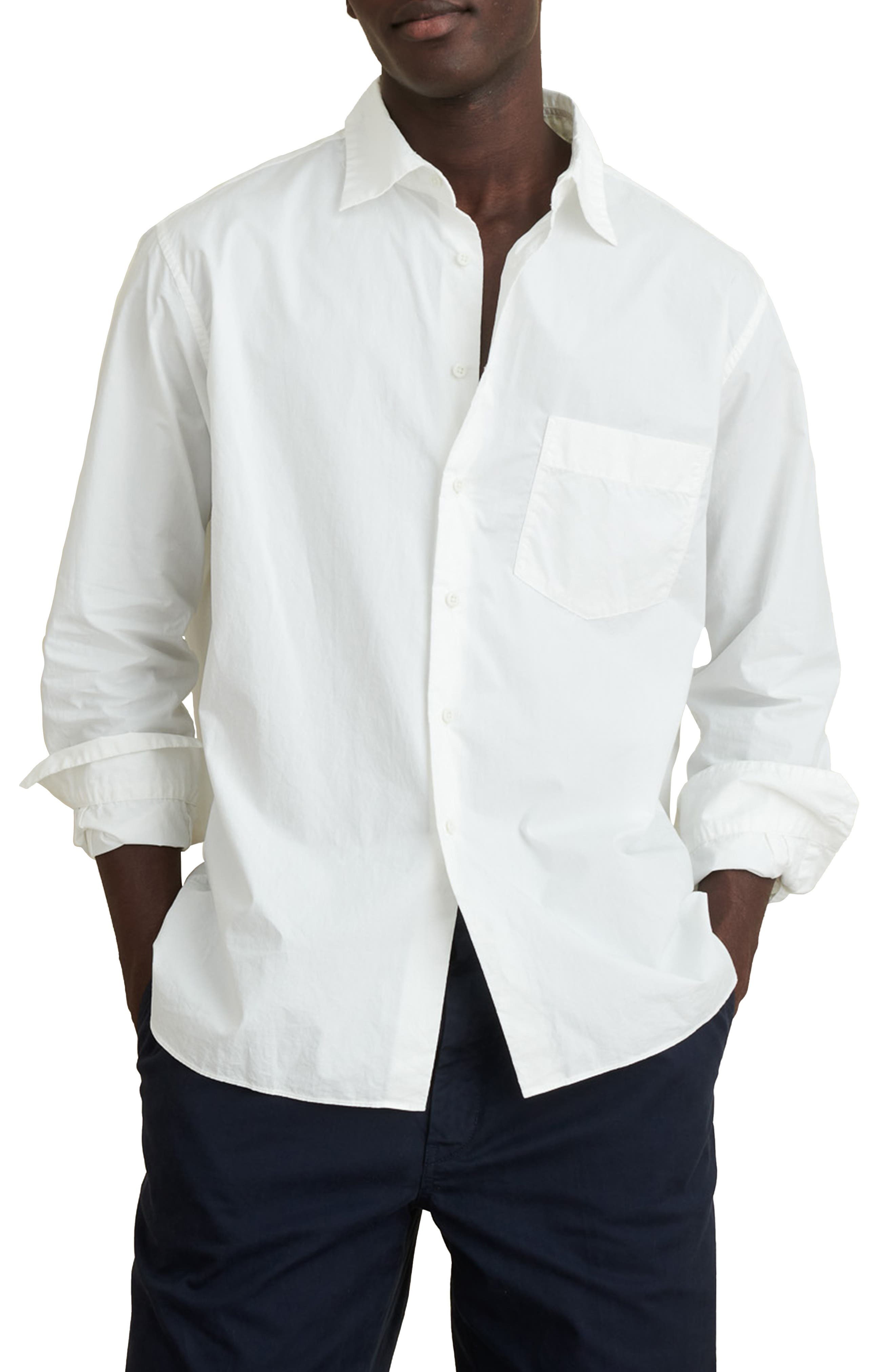 Easy Cotton Button-Up Shirt