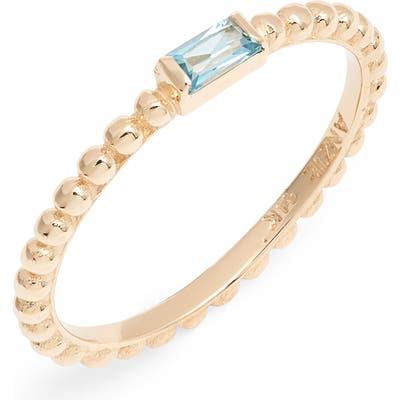 Anzie Dew Drop Blue Topaz Ring