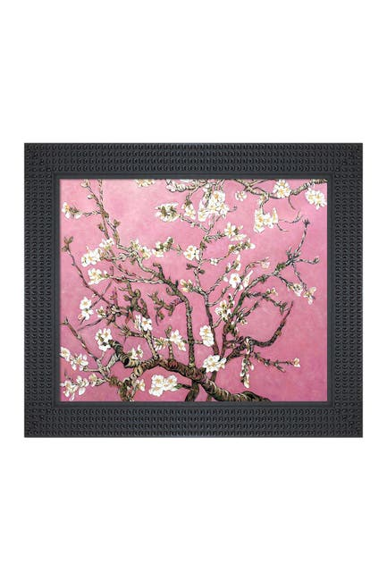 Image of Overstock Art Branches of an Almond Tree In Blossom, Pearl Pink - Framed Oil Reproduction of an Original Painting By La Pastiche Originals