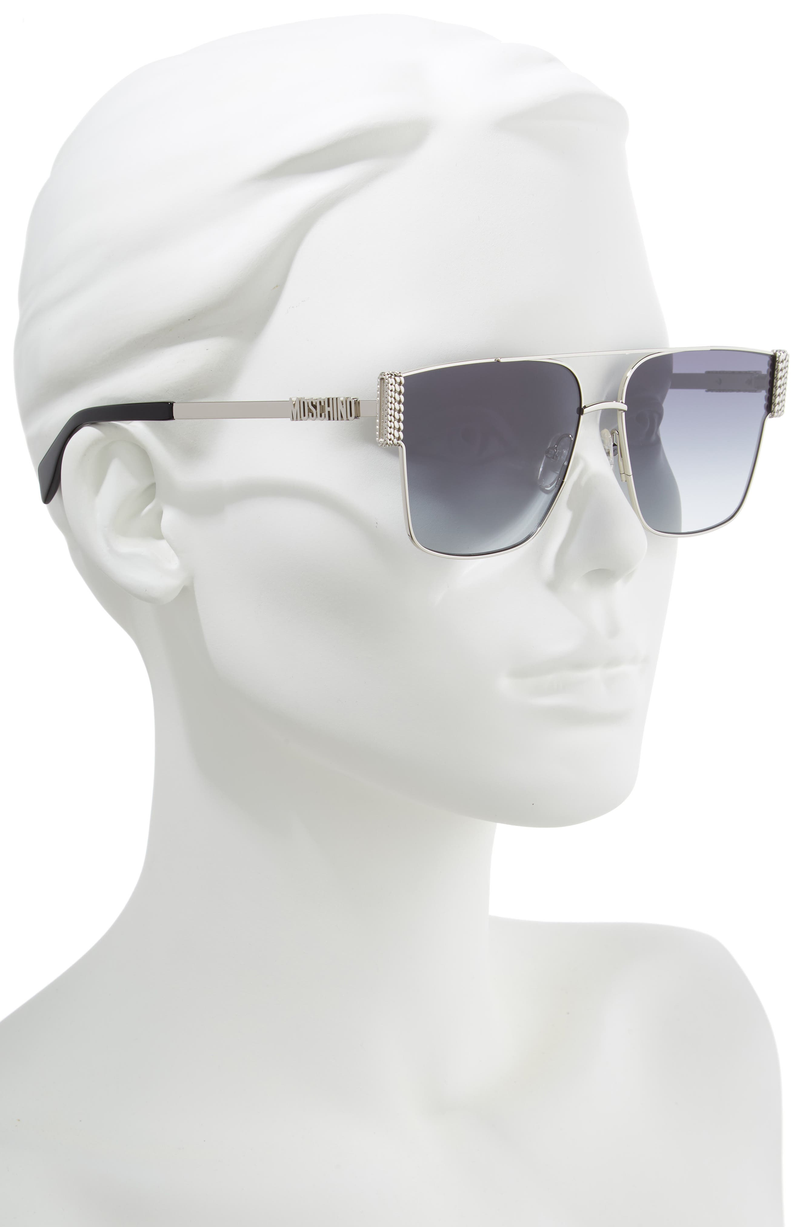 ,                             60mm Aviator Sunglasses,                             Alternate thumbnail 2, color,                             PALLADIUM