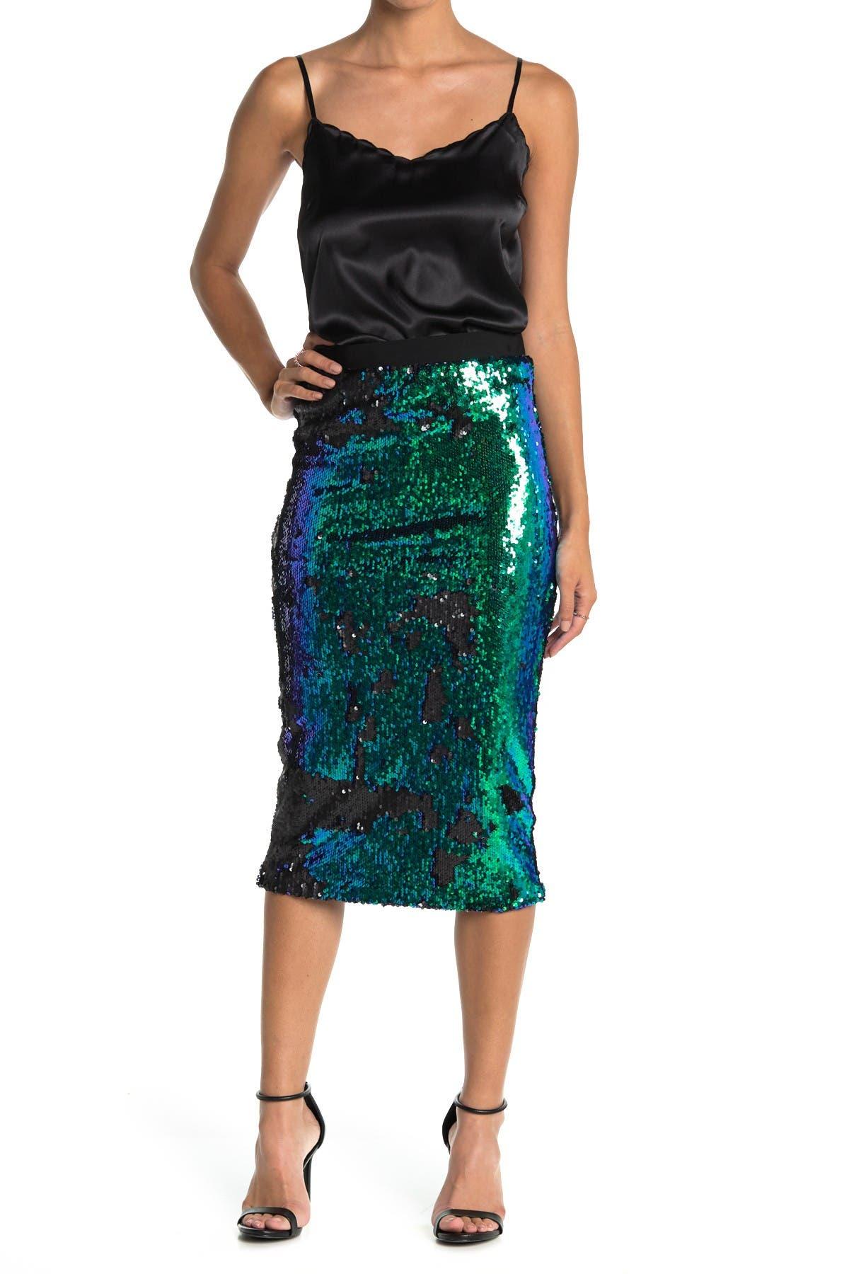 Image of LE SUPERBE Liza Sequin Midi Skirt