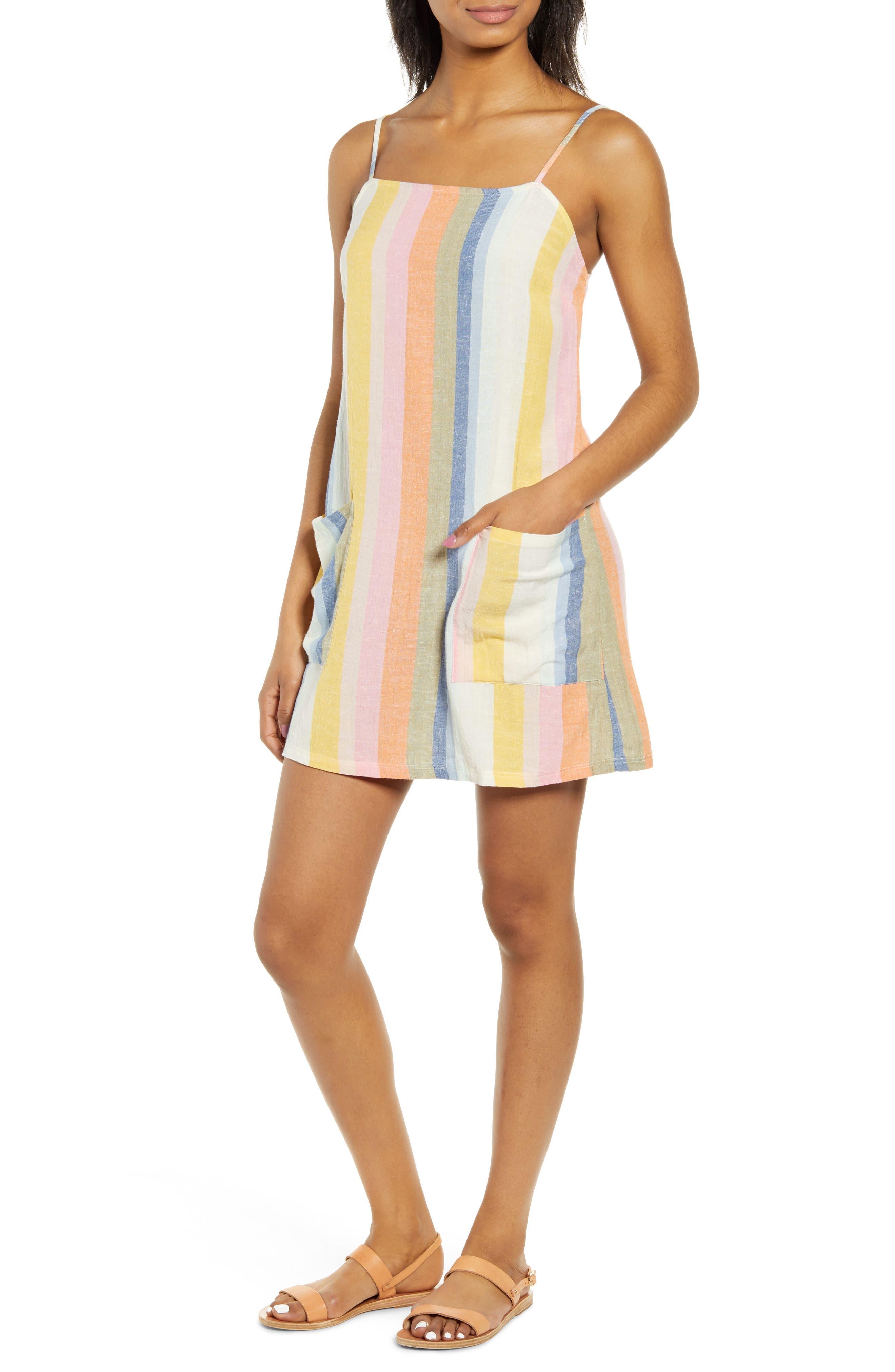 Billabong Straight Round Stripe Sundress, Blue