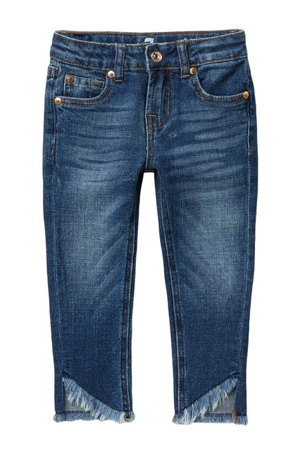 Image of 7 For All Mankind The Ankle Frayed Skinny Jeans (Little Girls)