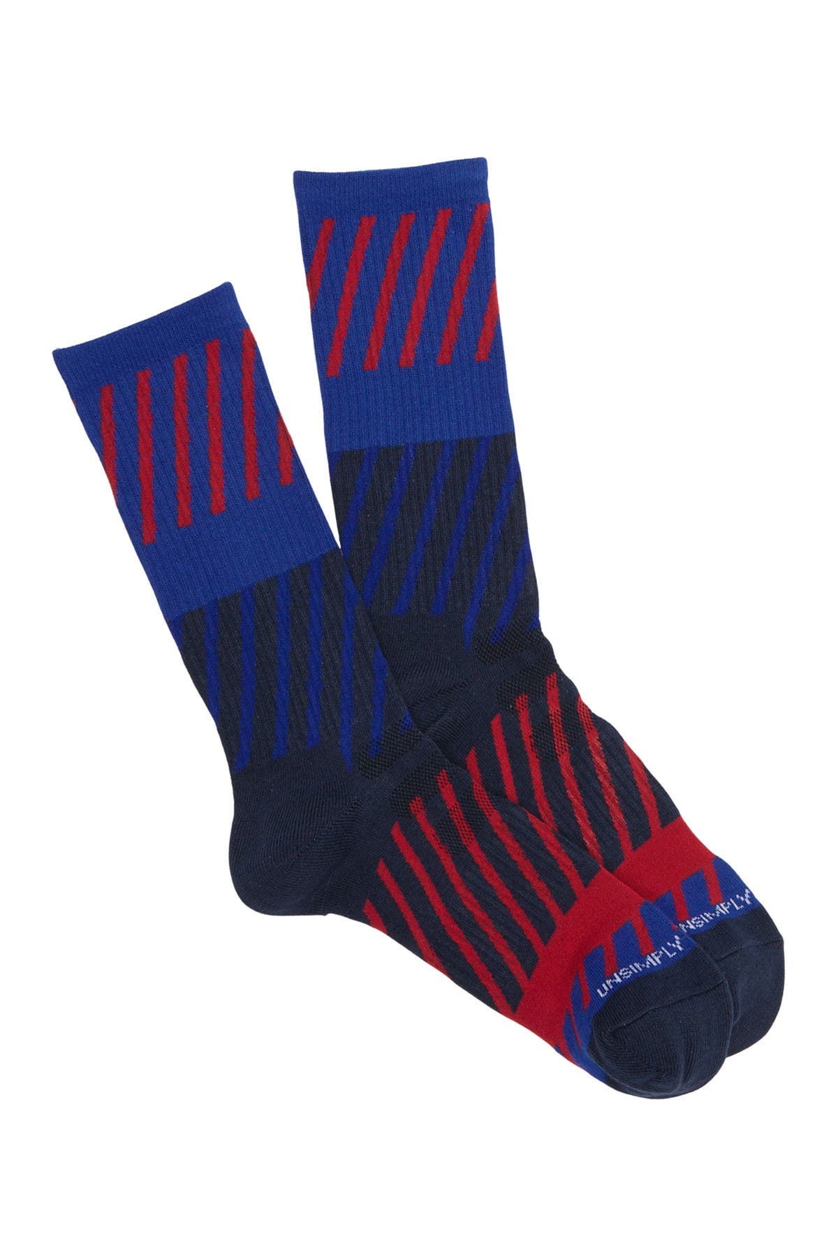 Image of Unsimply Stitched Diagonal Wave Athletic Crew Socks