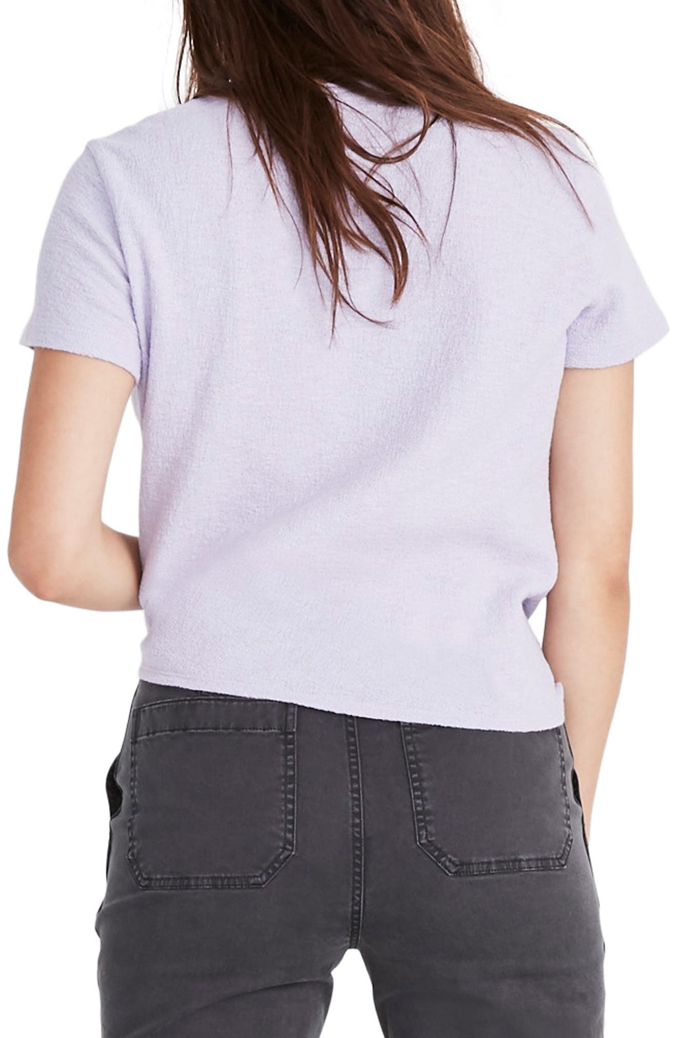,                             Modern Tie Front Tee,                             Alternate thumbnail 7, color,                             502