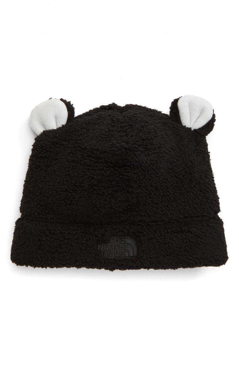 THE NORTH FACE Baby Bear Faux Fur Beanie, Main, color, TNF BLACK
