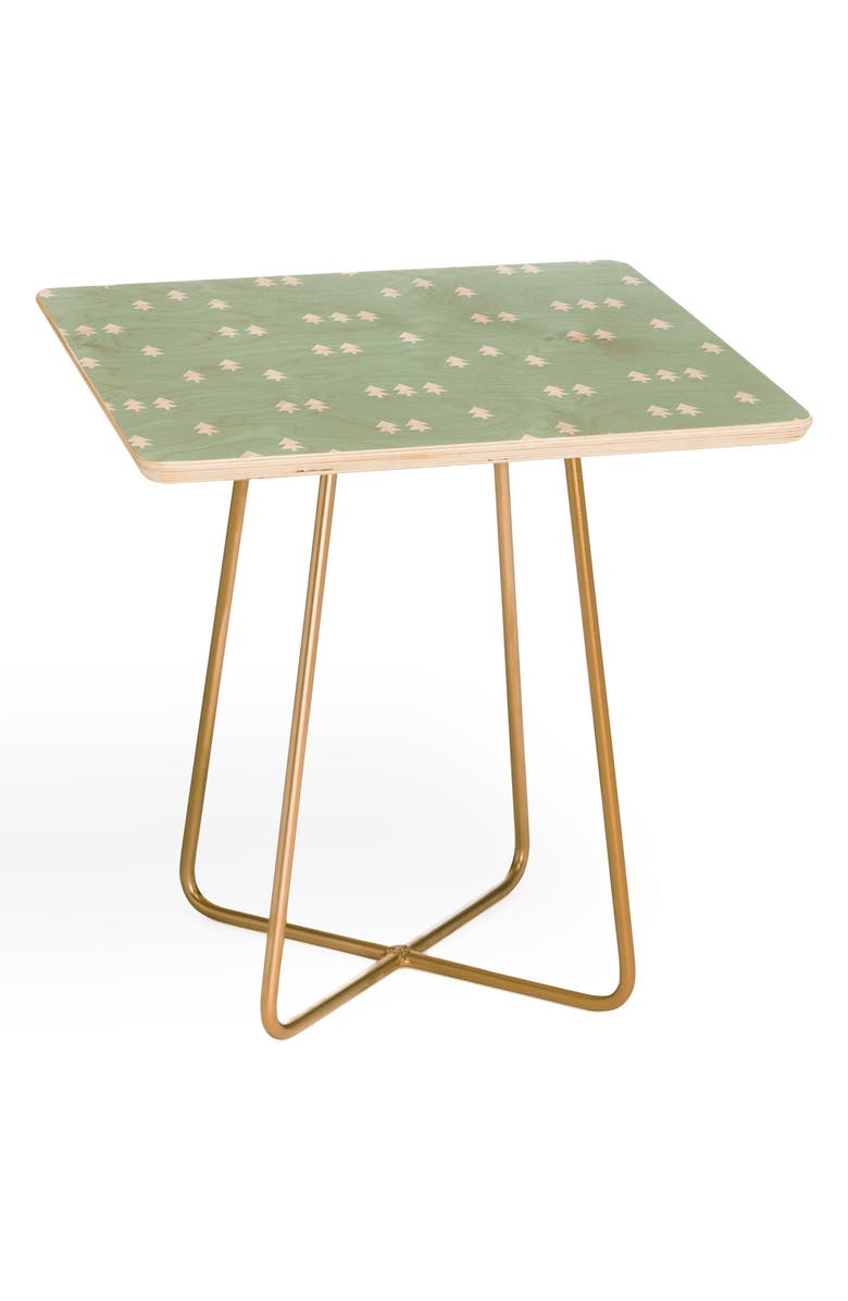 DENY DESIGNS Little Arrow Design Evergreen Side Table, Main, color, GREEN