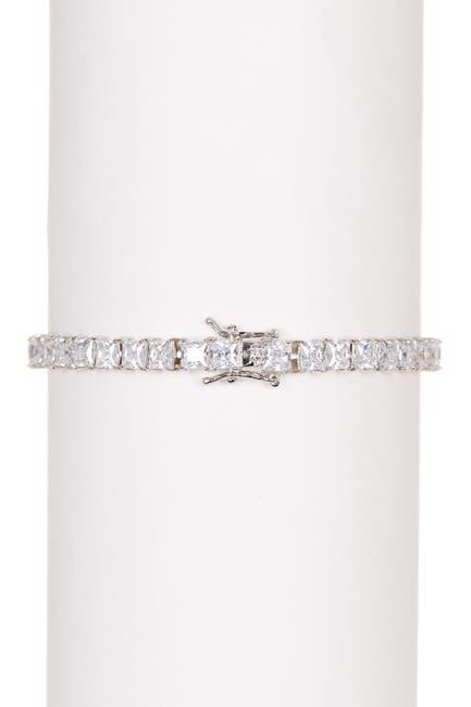 Image of CZ By Kenneth Jay Lane Princess CZ Tennis Bracelet