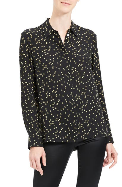 Theory Tops CLASSIC SILK BUTTON-UP TOP