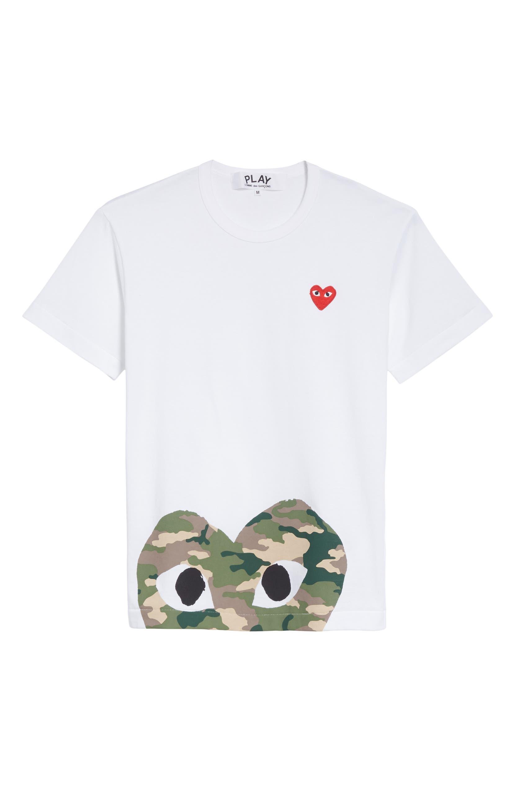 ebf71197 Comme des Garçons PLAY Camo Peek Heart T-Shirt | Nordstrom