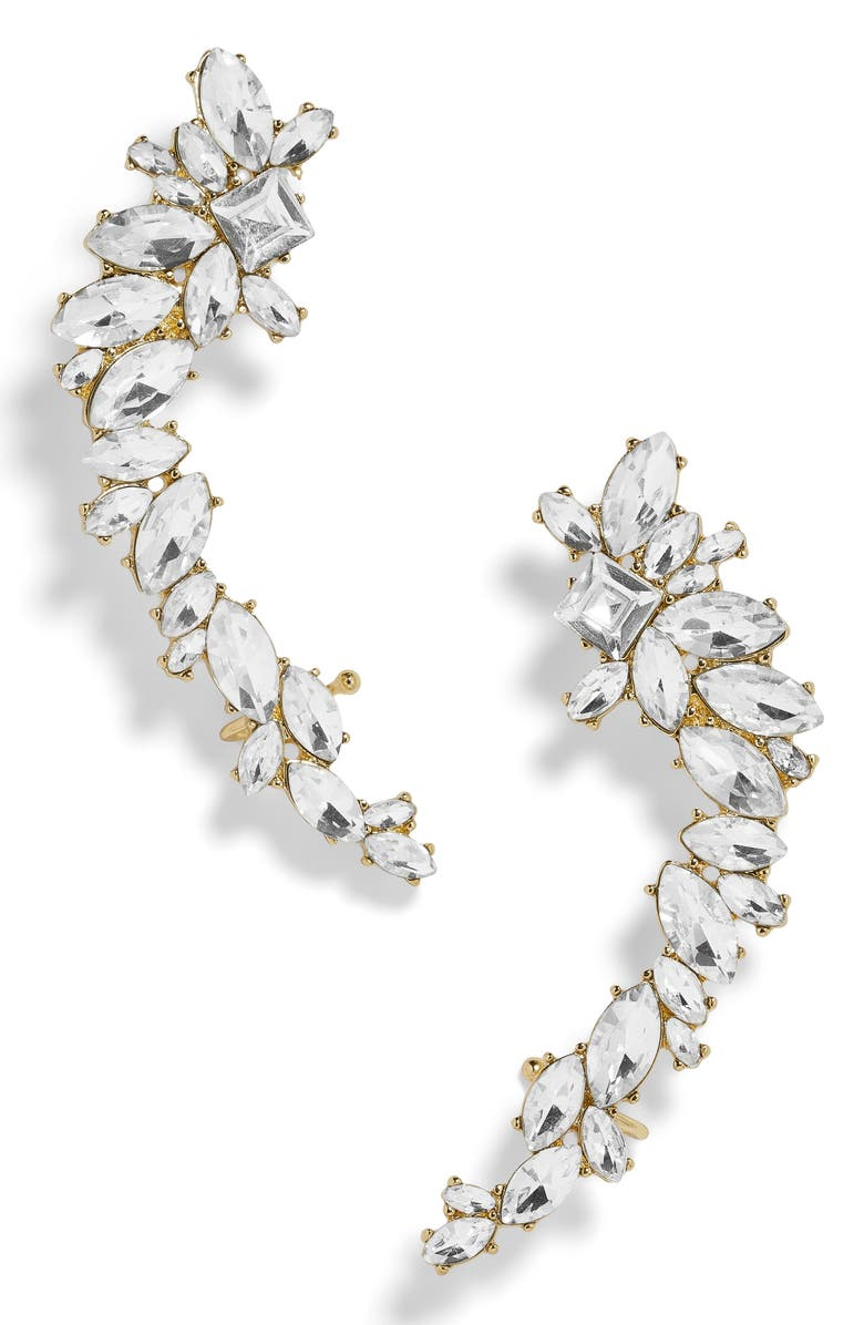 BAUBLEBAR Eliza Large Crystal Crawler Earrings, Main, color, 710