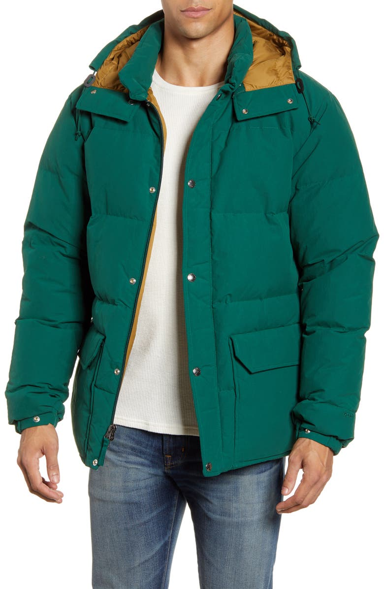 THE NORTH FACE Sierra 3.0 Water Repellent 600 Power Fill Down Jacket, Main, color, NIGHT GREEN/ BRITISH KHAKI