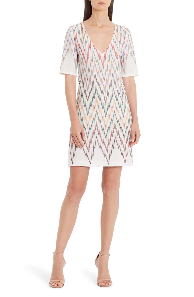 MISSONI Chevron Knit Minidress, Main, color, 100
