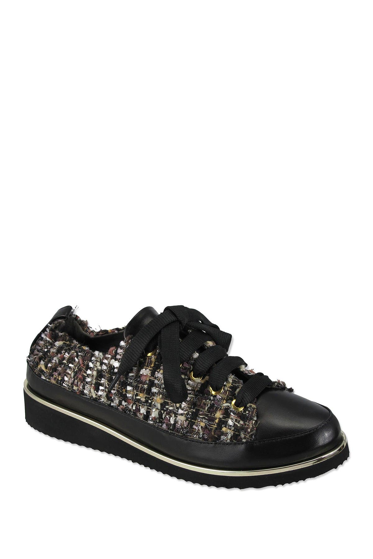 Image of RON WHITE Tweed Boucle Novella Sneaker