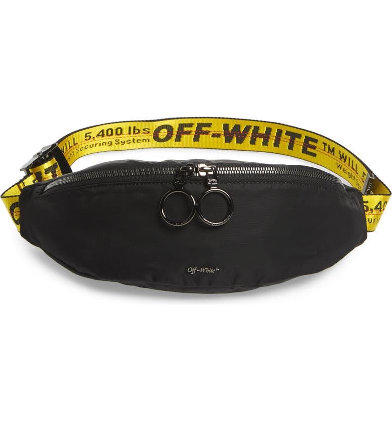 OFF-WHITE Industrial Belt Bag, Main, color, BLACK