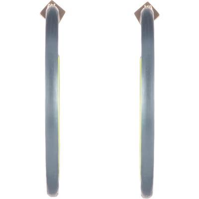 Alexis Bittar Neon Capsule Large Skinny Hoop Earrings