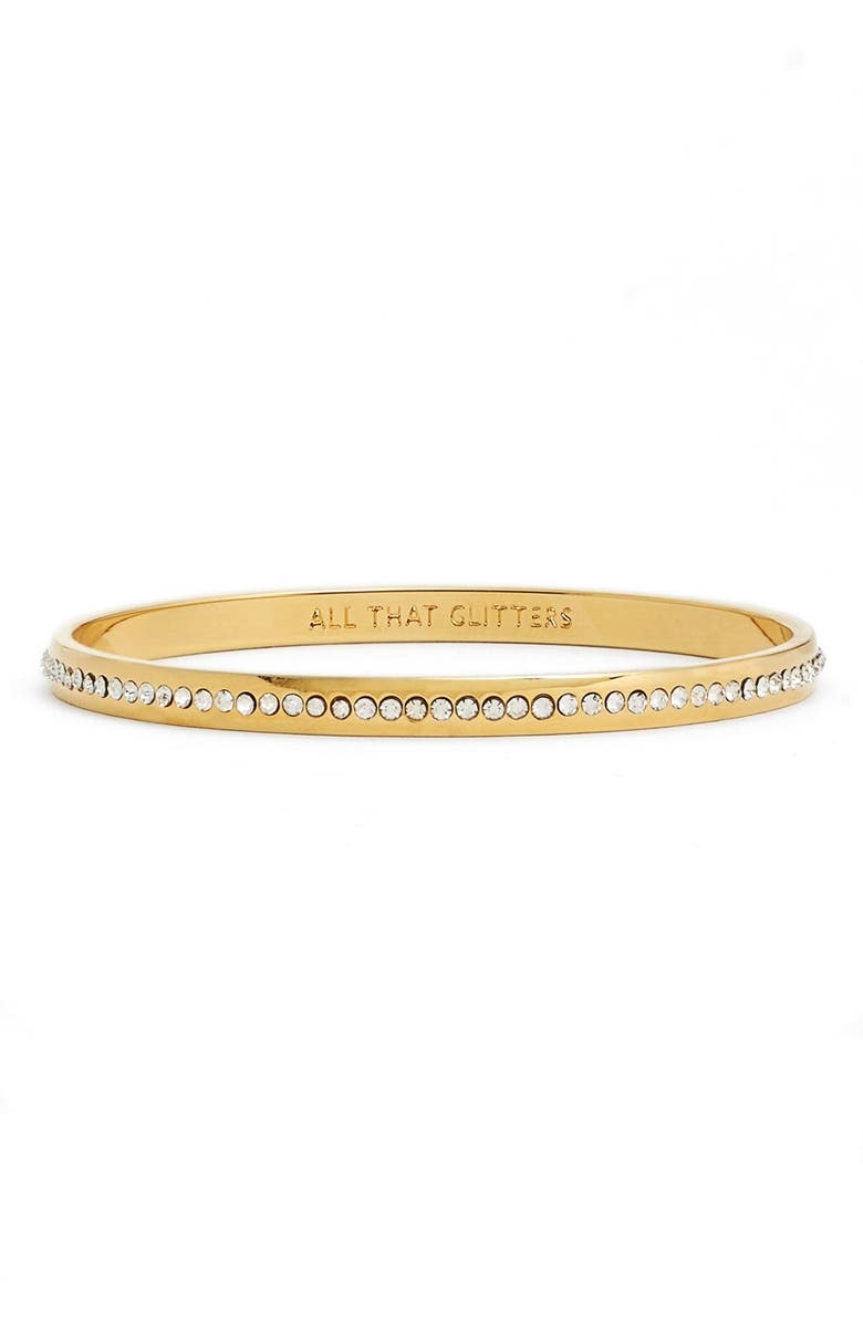 KATE SPADE NEW YORK 'idiom - all that glitters' pavé bangle, Main, color, 710